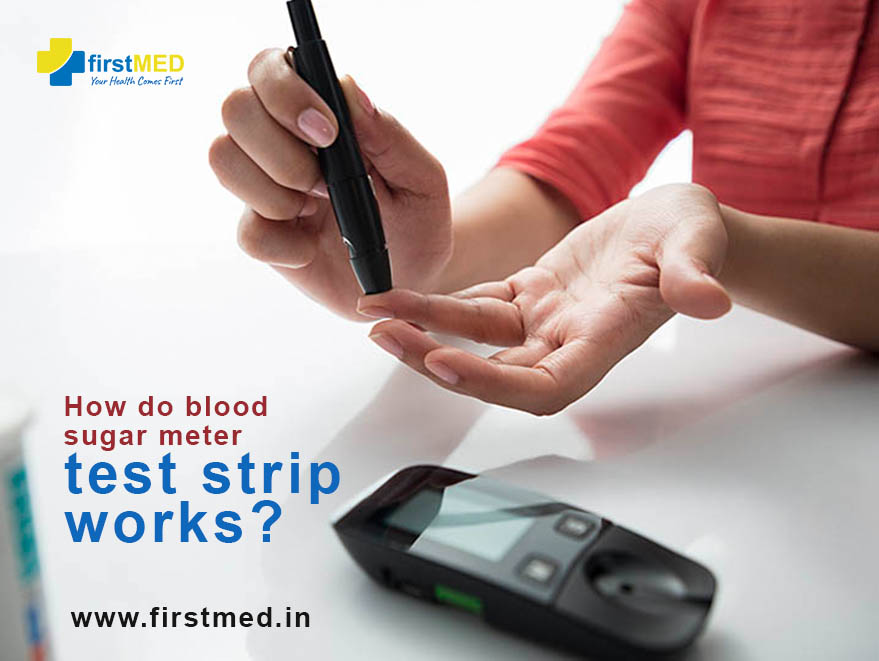 How do blood sugar meter test strip works